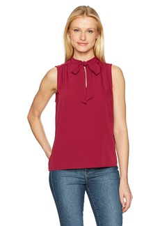 Lucky Brand Women's Solid Sleevless Tie Top
