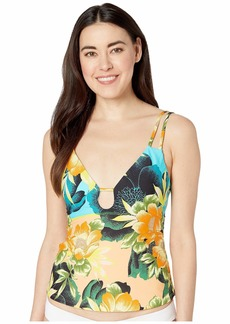 Lucky Brand Women's Strappy Slimming Fit Tankini Top