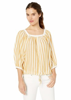 Lucky Brand Women's Stripe Banded TOP  S