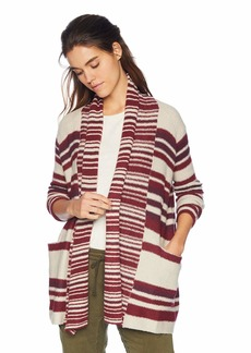 Lucky Brand Women's Stripe  Cardigan Sweater M