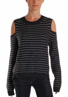 Lucky Brand Women's Stripe Cold Shoulder Pullover Sweater  L