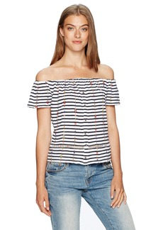 Lucky Brand Women's Stripe Off The Shoulder Top