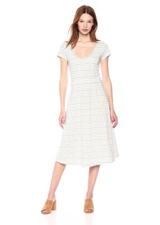 Lucky Brand Women's Stripe Open Back Dress  M