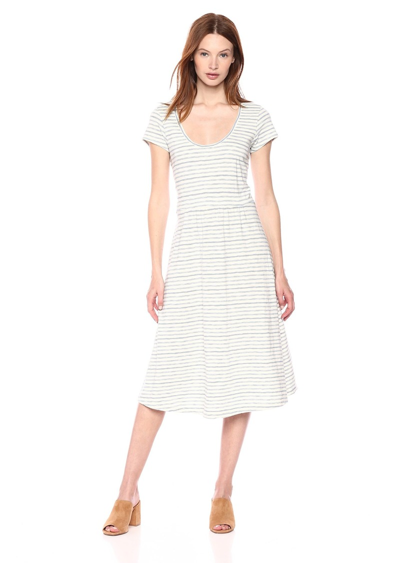 Lucky Brand Women's Stripe Open Back Dress  S