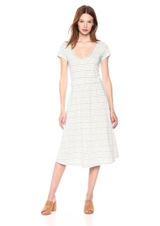 Lucky Brand Women's Stripe Open Back Dress  XS