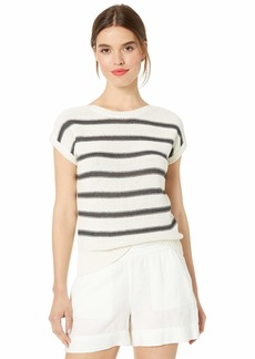 Lucky Brand Women's Stripe Short Sleeve Pullover Sweater  XS