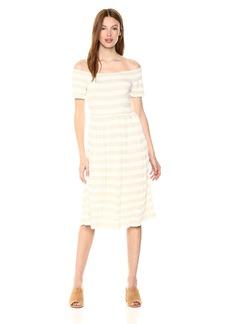 Lucky Brand Women's Stripe Smocked Dress  XL