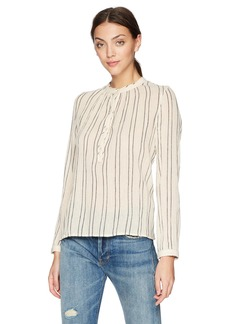 Lucky Brand Women's Striped Artisan Popover TOP  XS