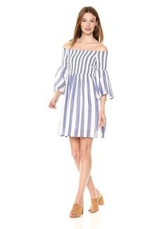 Lucky Brand Women's Striped Smocked Dress  M