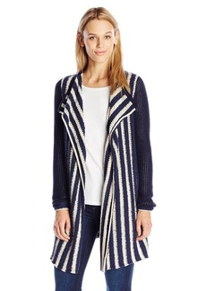 Lucky Brand Women's Striped Waterfall Cardigan