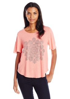 Lucky Brand Women's Studded Lotus Tee