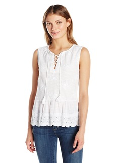 Lucky Brand Women's Studded Peplum Tank Top