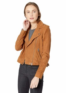 Lucky Brand Women's Suede Moto Jacket  XL