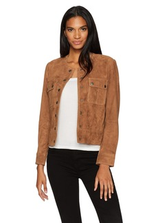 Lucky Brand Women's Suede Pocket Jacket