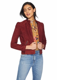 Lucky Brand Women's Suede Puff Sleeve Jacket  L