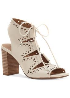 Lucky Brand Women's Tafia Block-Heel Lace-Up Sandals Women's Shoes