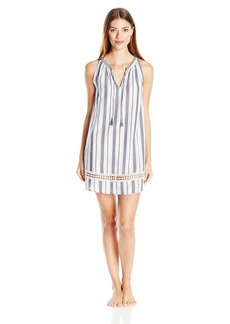 Lucky Brand Women's Tassel Sleep Dress  S