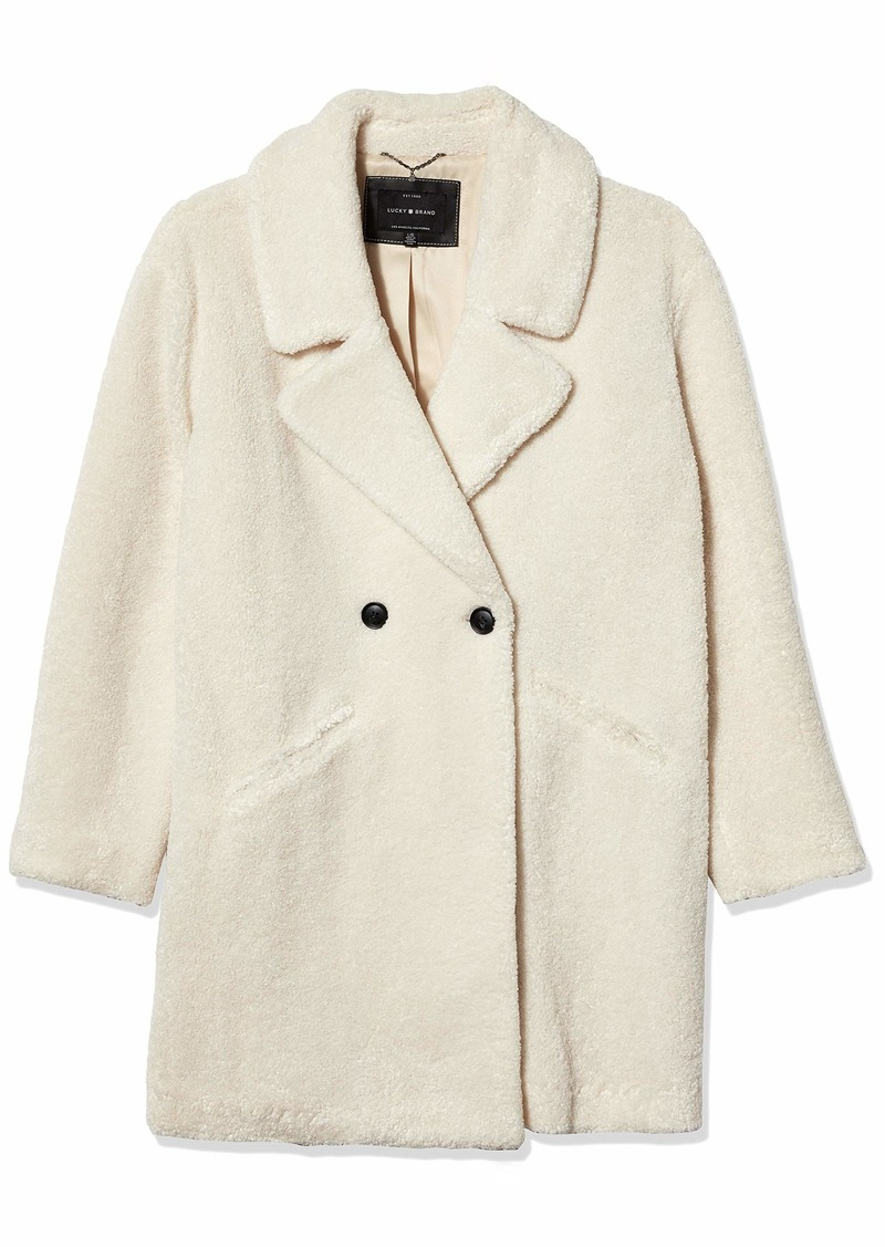 Lucky Brand Women's Teddy Coat  LG