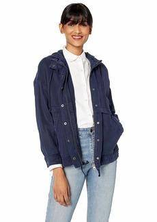 Lucky Brand Women's Tencel Lightweiht Hooded Jacket  S