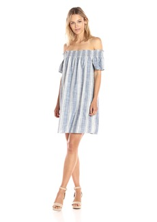 Lucky Brand Women's Tencel Off Shoulder Dress