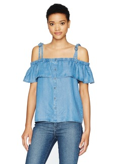 Lucky Brand Women's Tencel Off The Shoulder Top  Wash