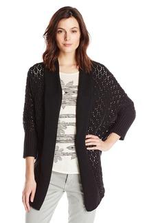 Lucky Brand Women's Textured Cocoon Cardigan Sweater  edium