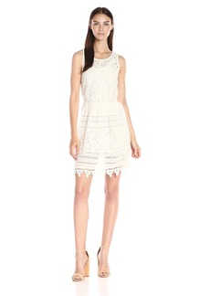 Lucky Brand Women's Textured Eyelet Dress