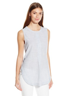 Lucky Brand Women's Textured Sleeveless Top