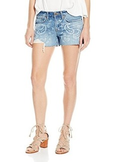 Lucky Brand Women's the Cutoff Jean Short in Bandana Print