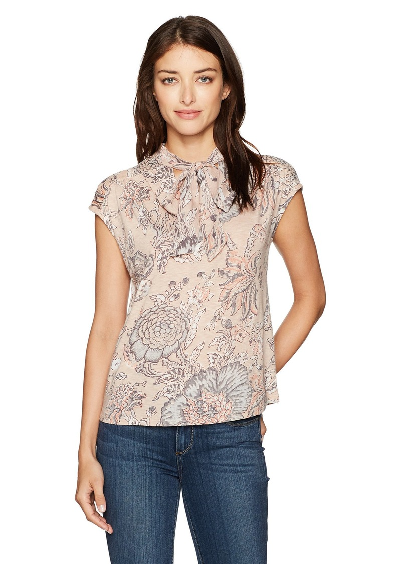 Lucky Brand Women's Tie Neck Blouse