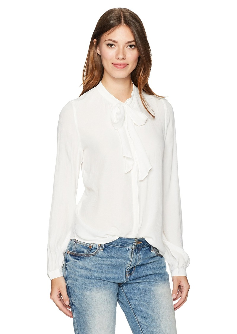 Lucky Brand Women's Tie Neck Top
