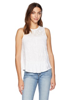 Lucky Brand Women's Tiered Jacquard Tank TOP  S
