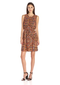 Lucky Brand Women's Tile Print Dress