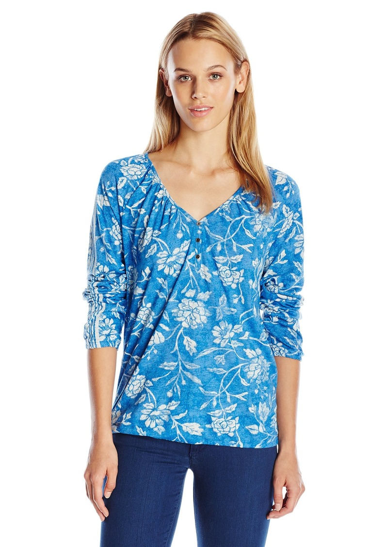 Lucky Brand Women's Topanga Flowers Top