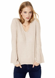 Lucky Brand Women's V-Neck Bell Sleeve Thermal Top  S