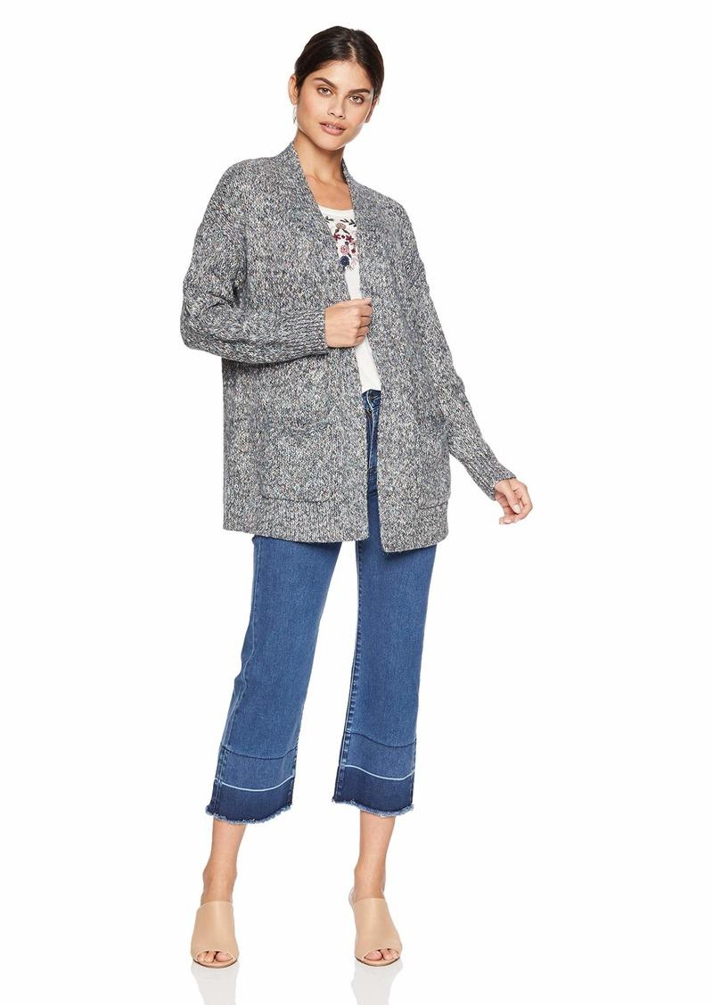 Lucky Brand Women's Venice Marl Cardigan Sweater  M