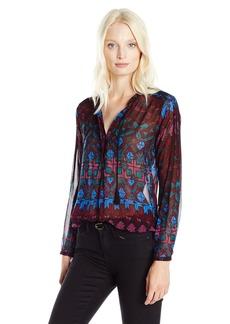 Lucky Brand Women's Vibrant Button Down Shirt