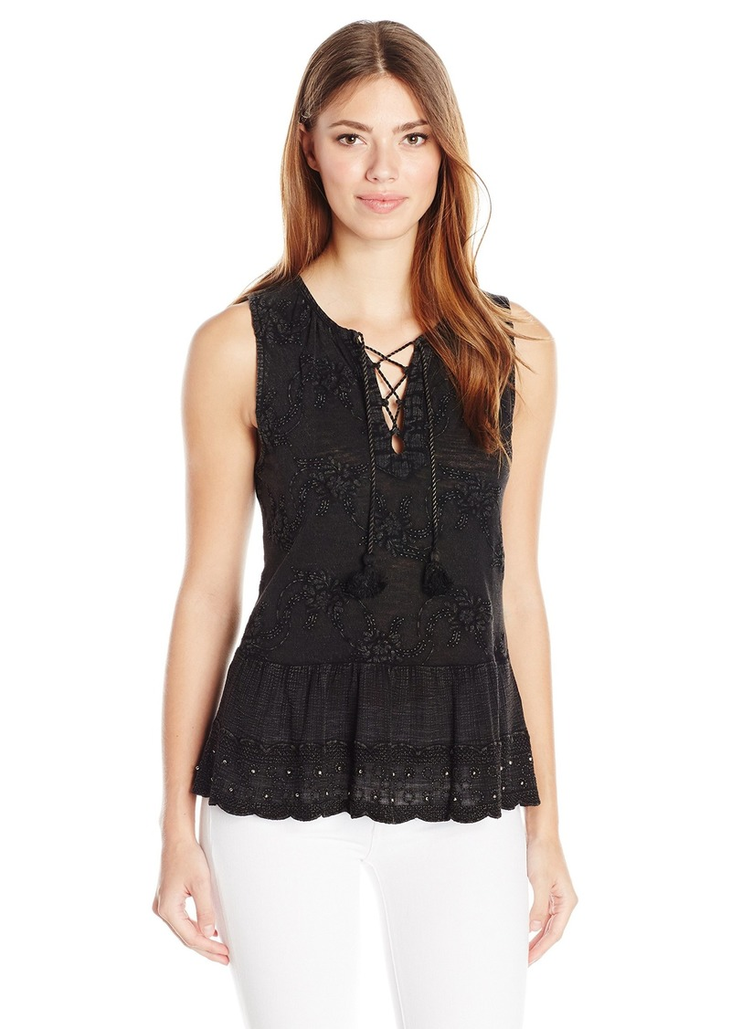 Lucky Brand Women's Washed Studded Tank Top