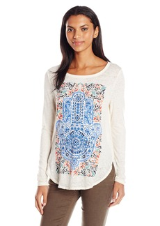 Lucky Brand Women's Watercolor Hamsa Top