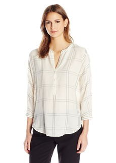Lucky Brand Women's White Plaid Shirt
