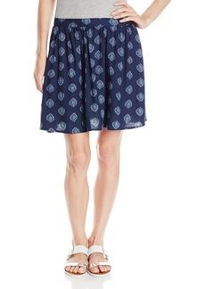 Lucky Brand Women's Woodblock Flirty Skirt