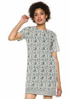 Lucky Brand Women's Woodblock Print T-Shirt Dress  S