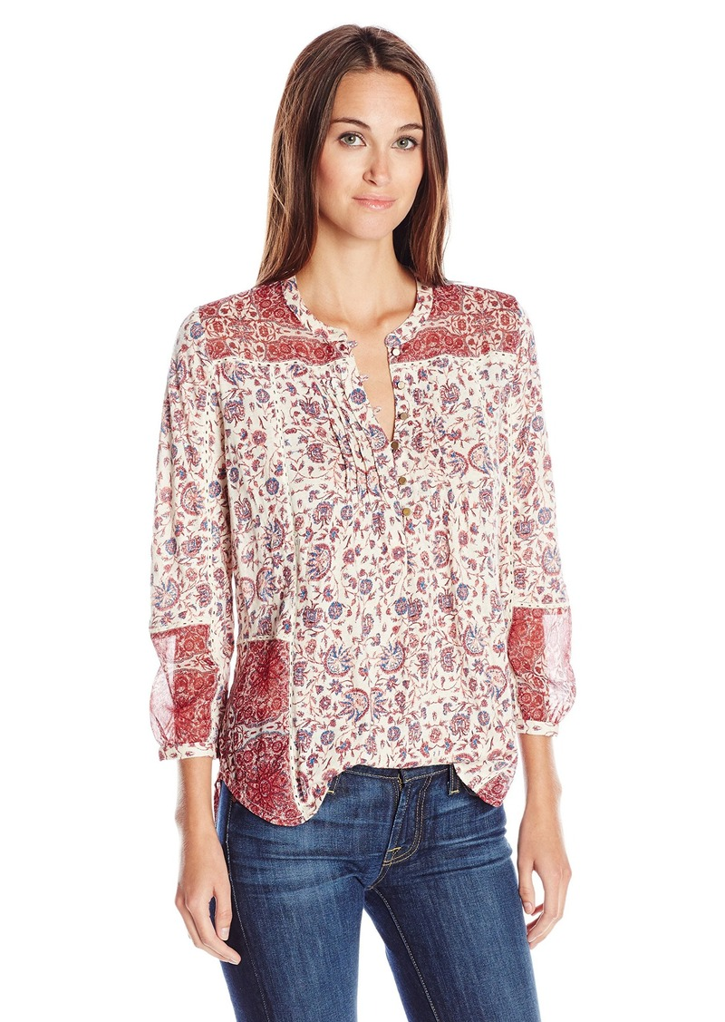 Lucky Brand Women's Woven Mixed Floral Top  Small