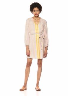 Lucky Brand Women's Yarn Dyed Peasant Dress  XL