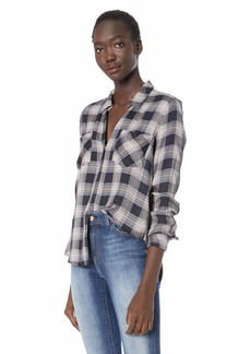 Lucky Brand Women's Yarn Dyed Plaid Button UP Shirt in  M