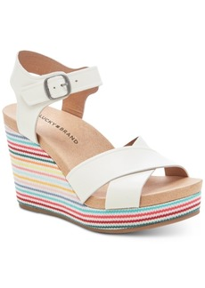 Lucky Brand Women's Yarosan Wedge Sandals Women's Shoes