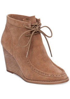 Lucky Brand Women's Ysabel Lace-Up Wedge Booties Women's Shoes