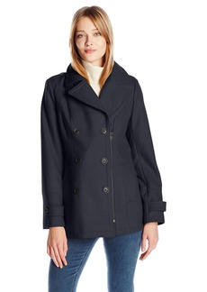 Lucky Brand Women's Zip Peacoat  L