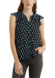 Lucky Brand Woodblock Printed Tank Top