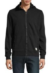 Lucky Brand Woven Mix Mock Cotton Jacket